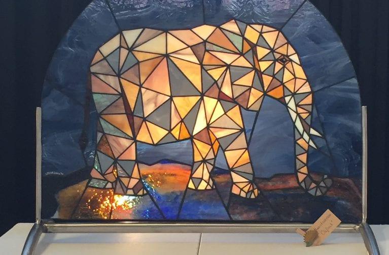 Lindeblad glaskunst exposant Zomerexpositie 2020 van Beeldentuin Witharen
