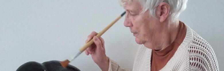 """Hetty Overwijk gastexposant """"75 jaar Vrijheid"""" in Beeldentuin Witharen"""